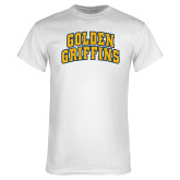 White T Shirt-Arched Golden Griffins