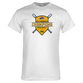 White T Shirt-2018 MAAC Baseball Champions