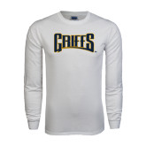 White Long Sleeve T Shirt-Griffs Wordmark