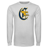 White Long Sleeve T Shirt-Old English C Griffs