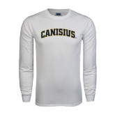 White Long Sleeve T Shirt-Arched Canisius