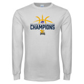 White Long Sleeve T Shirt-Mens Basketball Regular Season Champions