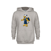 Youth Grey Fleece Hood-Petey