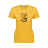 Ladies Gold T Shirt-Capital C Griffs