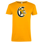 Ladies Gold T Shirt-Old English C Griffs