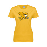 Ladies Gold T Shirt-Griffin
