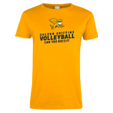 Ladies Gold T Shirt-Can You Dig It - Volleyball
