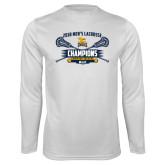 Performance White Longsleeve Shirt-2018 Mens Lacrosse Champions