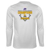 Performance White Longsleeve Shirt-2018 MAAC Baseball Champions