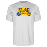 Performance White Tee-Arched Golden Griffins
