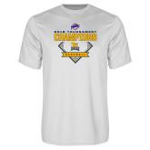 Performance White Tee-2018 MAAC Baseball Champions