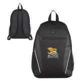 Atlas Black Computer Backpack-Canisius w/ Griff Stacked