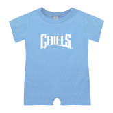 Light Blue Infant Romper-Griffs Wordmark