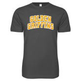 Next Level SoftStyle Charcoal T Shirt-Arched Golden Griffins