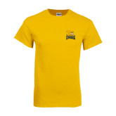 Gold T Shirt-Canisius w/ Griff Stacked