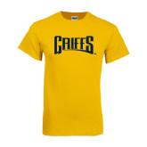 Gold T Shirt-Griffs Wordmark