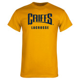 Gold T Shirt-Lacrosse