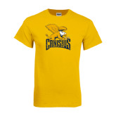 Gold T Shirt-Canisius w/ Griff Stacked - Distressed