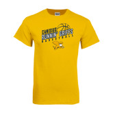 Gold T Shirt-Runnin Griffs Basketball Design