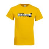 Gold T Shirt-Hockey Stick Design