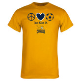 Gold T Shirt-Just Kick It Soccer Design