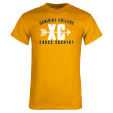 Gold T Shirt-Cross Country Design
