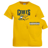 Gold T Shirt-Griffs w/ Griff Stacked