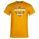 Gold T Shirt-2018 MAAC Baseball Champions