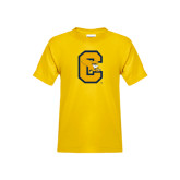 Youth Gold T Shirt-Capital C Griffs