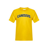 Youth Gold T Shirt-Arched Canisius