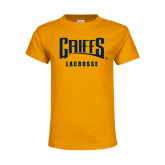 Youth Gold T Shirt-Lacrosse