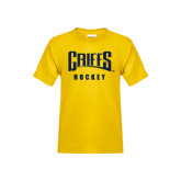Youth Gold T Shirt-Hockey