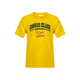 Youth Gold T Shirt-Arched Canisius College Hockey