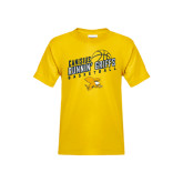 Youth Gold T Shirt-Runnin Griffs Basketball Design