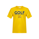 Youth Gold T Shirt-Golf Design