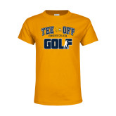 Youth Gold T Shirt-Tee Off Golf Design