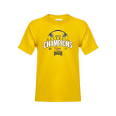 Youth Gold T Shirt-2017 MAAC Champions Baseball
