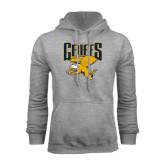 Grey Fleece Hoodie-Griffs w/ Griff Stacked