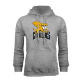 Grey Fleece Hoodie-Canisius w/ Griff Stacked