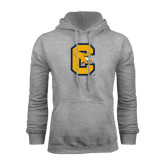 Grey Fleece Hoodie-Capital C Griffs
