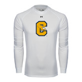 Under Armour White Long Sleeve Tech Tee-Capital C Griffs