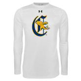 Under Armour White Long Sleeve Tech Tee-Old English C Griffs