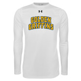 Under Armour White Long Sleeve Tech Tee-Arched Golden Griffins