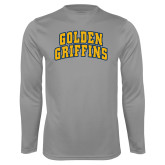 Performance Steel Longsleeve Shirt-Arched Golden Griffins