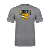 Performance Grey Concrete Tee-Griffs w/ Griff Stacked