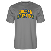 Performance Grey Concrete Tee-Arched Golden Griffins