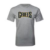 Grey T Shirt-Griffs Wordmark