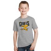 Youth Grey T-Shirt-Griffs w/ Griff Stacked