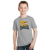 Youth Grey T-Shirt-Canisius w/ Griff Stacked