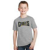 Youth Grey T-Shirt-Griffs Wordmark